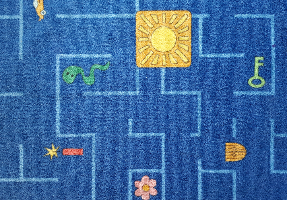 Play therapy room - maze rug