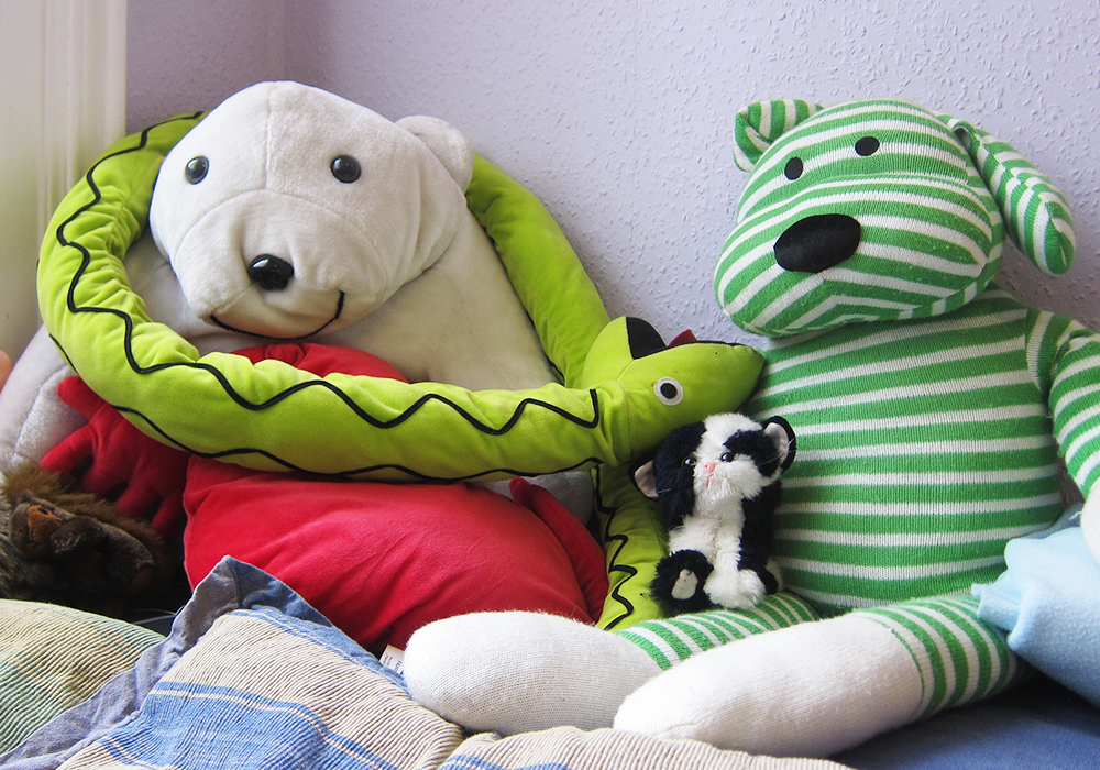Cuddly toys in our play therapy rooms, North Shields